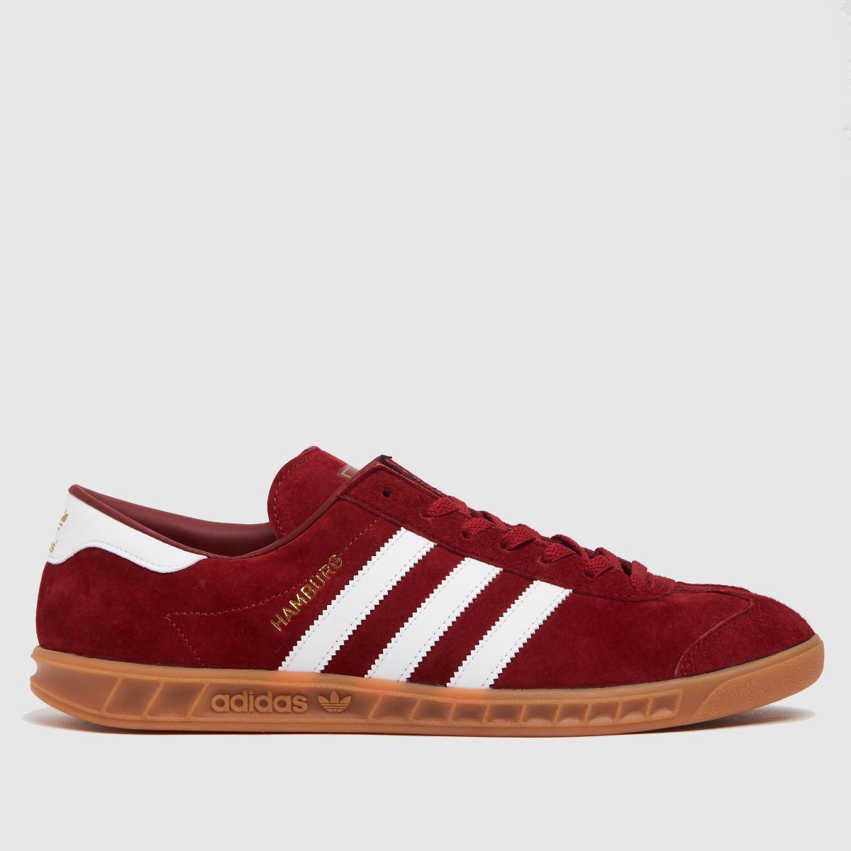 Adidas Red Hamburg Trainers