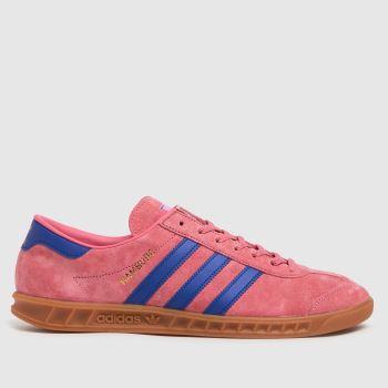 adidas Pink Hamburg Mens Trainers