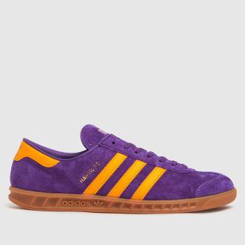 adidas Purple Hamburg Mens Trainers