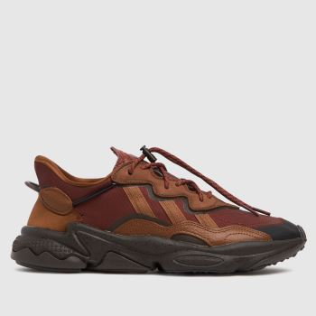 adidas Brown Ozweego Mens Trainers