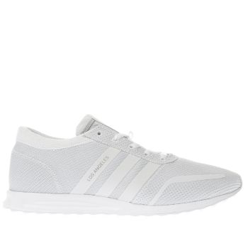 size 40 8bc4a 8e337 ADIDAS WHITE LOS ANGELES TRAINERS