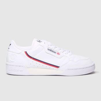 Adidas White Continental 80 Vegan c2namevalue::Mens Trainers