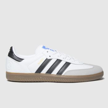 Adidas White & Black Samba Vegan Mens Trainers#
