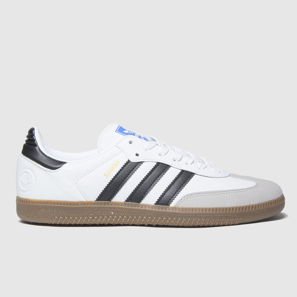Adidas White & Black Samba Vegan Trainers