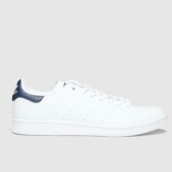 adidas White & Navy Stan Smith Vegan Mens Trainers