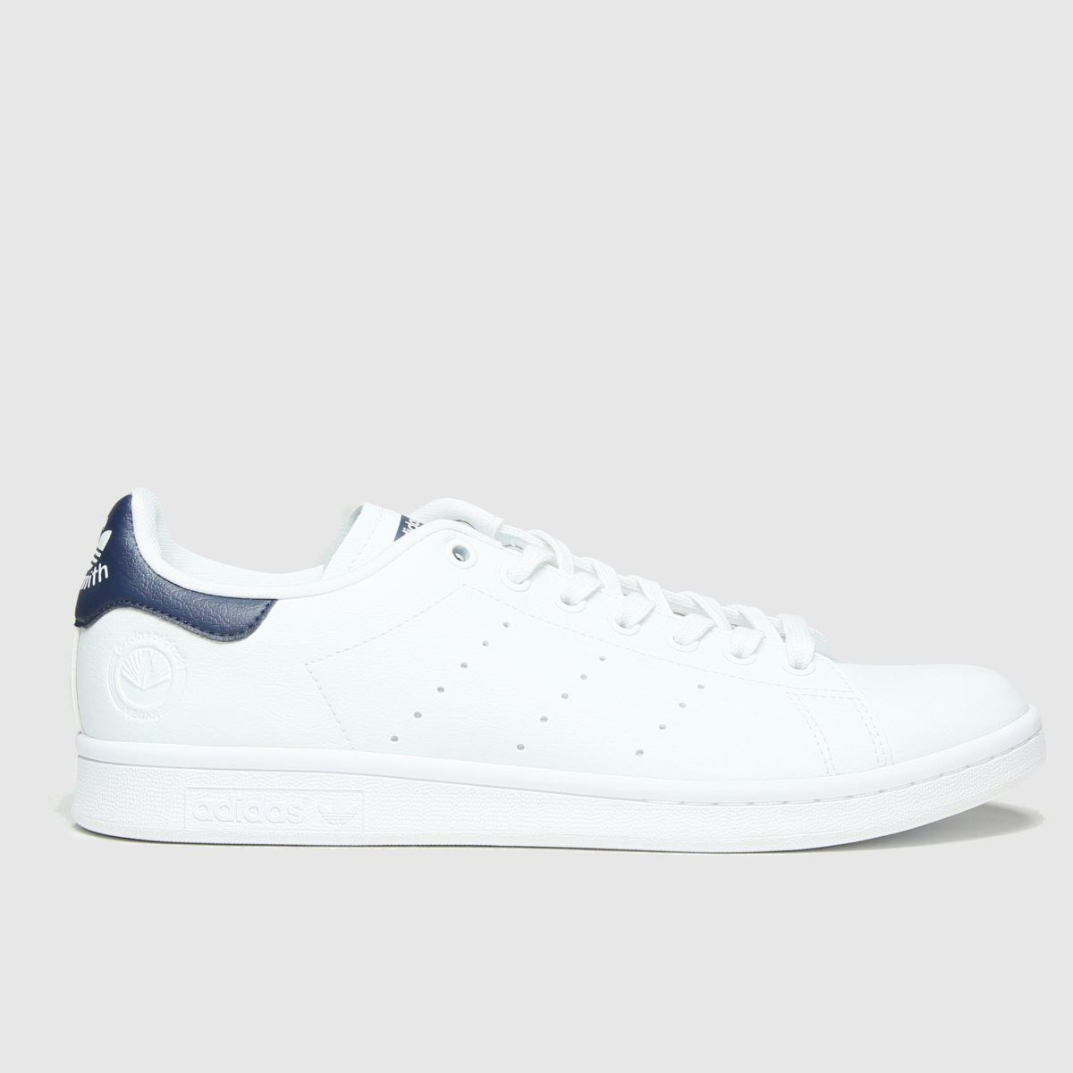 Adidas White & Navy Stan Smith Vegan Trainers