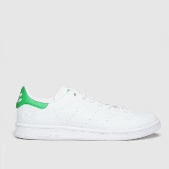 adidas White & Green Stan Smith Vegan Mens Trainers