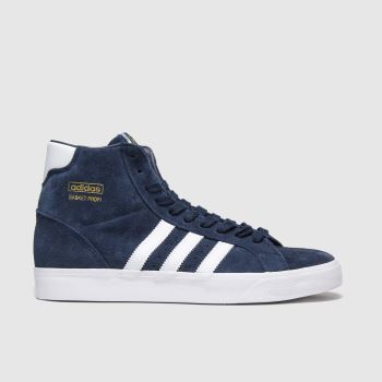 Adidas Navy & White Basket Profi c2namevalue::Mens Trainers