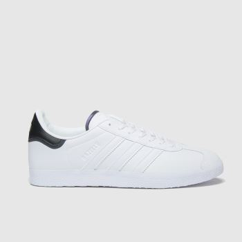 adidas White & Black Gazelle Mens Trainers