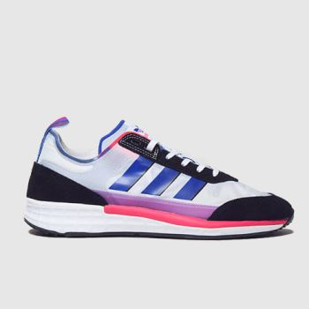adidas White & Black Sl 7200 Pride Mens Trainers