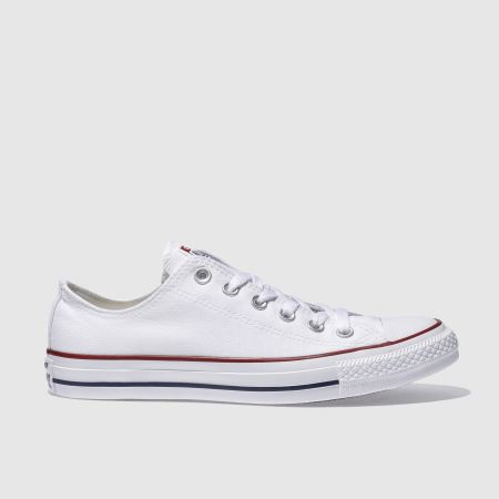mens white converse all star lo trainers | schuh