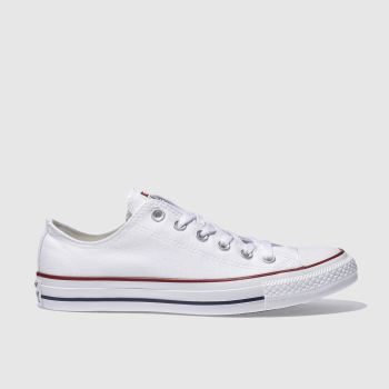Converse White All Star Lo Trainers