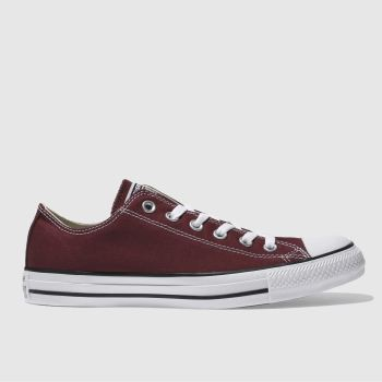 Converse Burgundy All Star Lo Mens Trainers