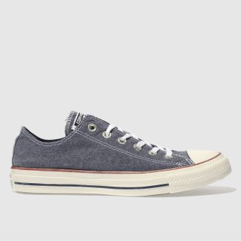 Converse Navy & White All Star Ox Printed Wash Mens Trainers