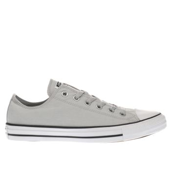 CONVERSE LIGHT GREY ALL STAR OX CHAMBRAY TRAINERS