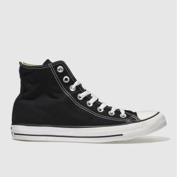 Converse Black All Star Hi Top Mens Trainers 0495fd6cc0