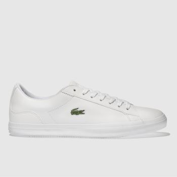 Lacoste White Lerond c2namevalue::Mens Trainers