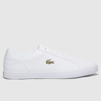 Lacoste White & Gold Lerond Mens Trainers