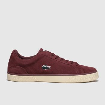 Lacoste Burgundy Lerond Mens Trainers