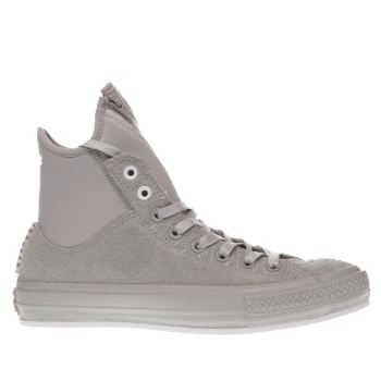 CONVERSE LIGHT GREY ALL STAR MA-1 SE HAIRY SUEDE TRAINERS
