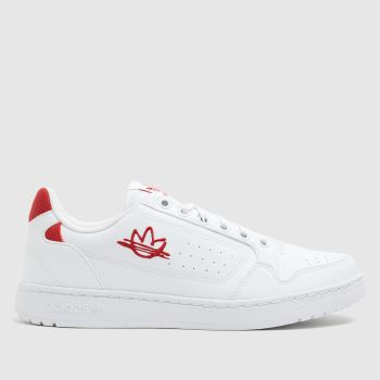 adidas White & Red Ny 92 Mens Trainers