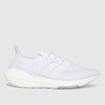 adidas White Ultra Boost 21 Mens Trainers