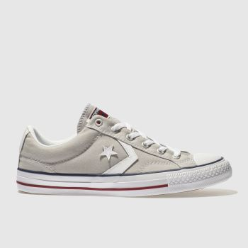 Converse Light Grey Star Player Ox Mens Trainers