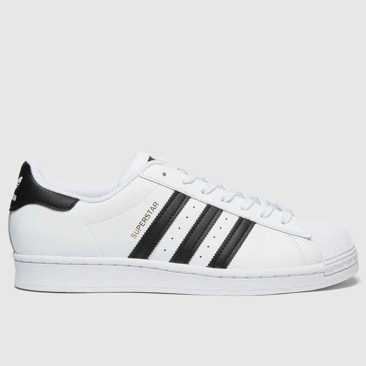 Adidas White & Black Superstar Trainers