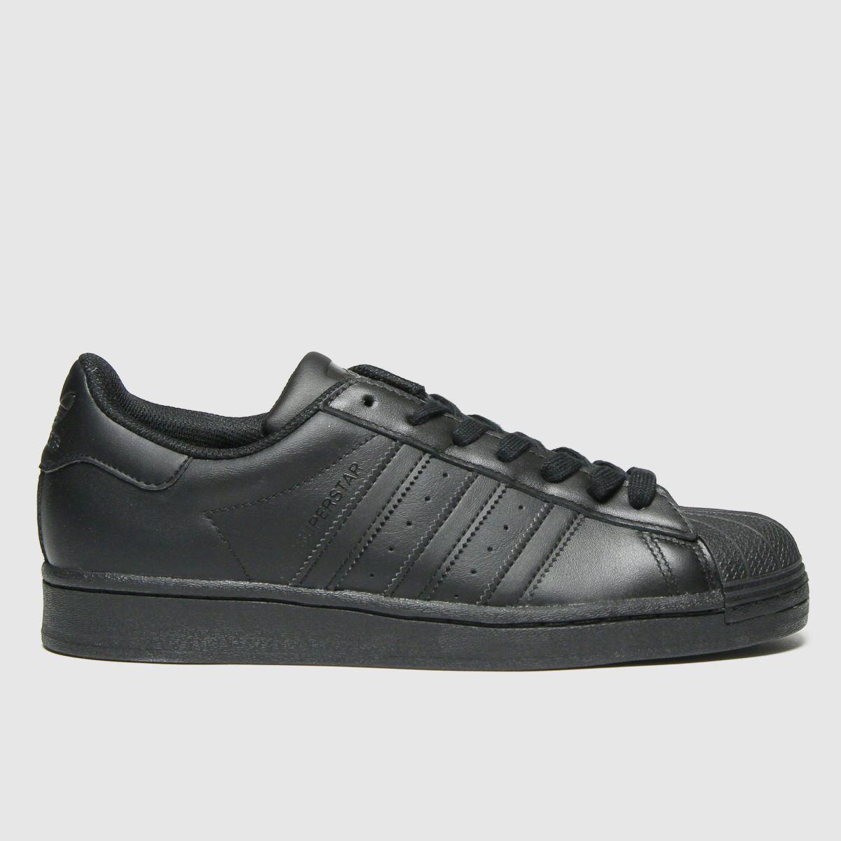 Adidas Black Superstar Trainers