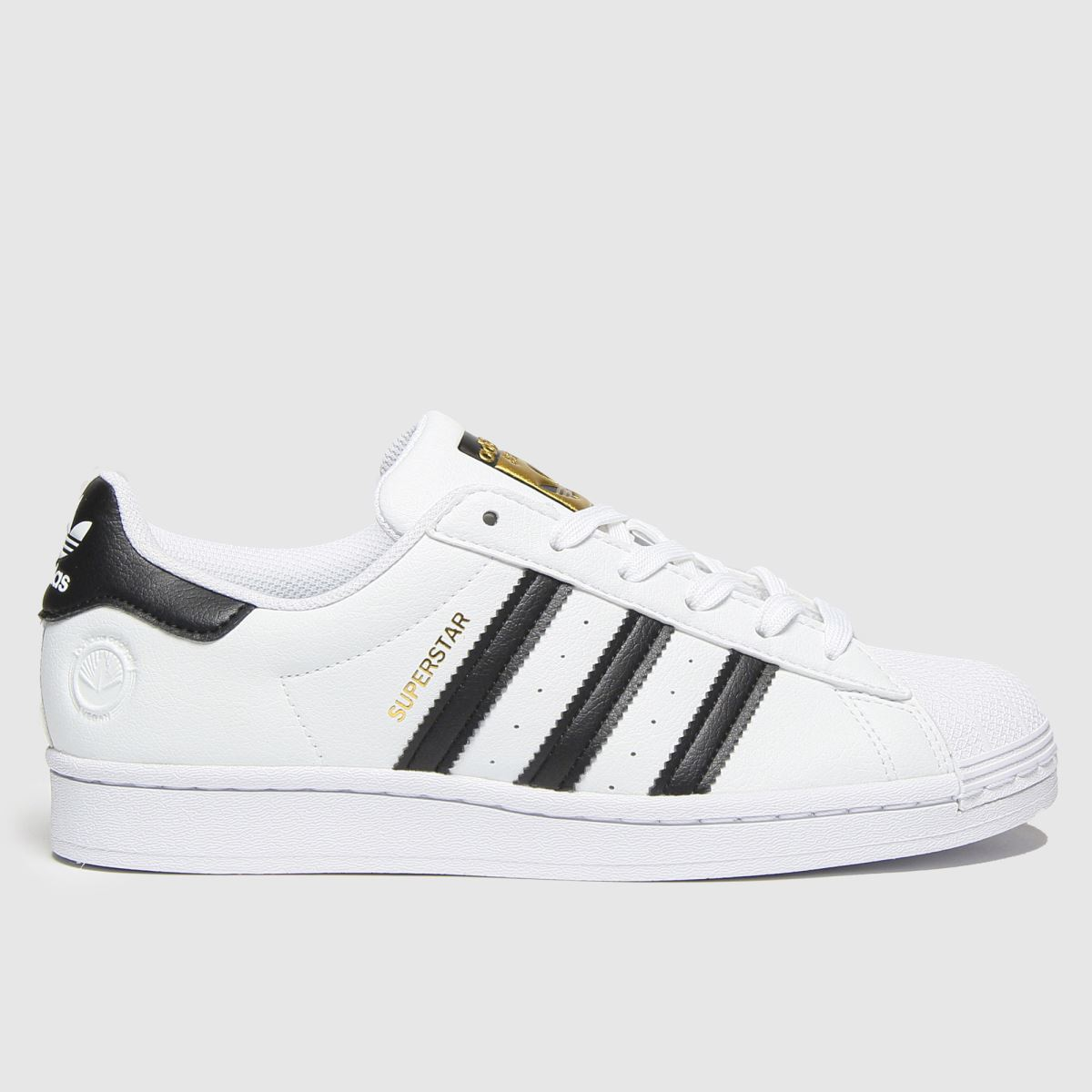 Adidas White & Black Superstar Vegan Trainers