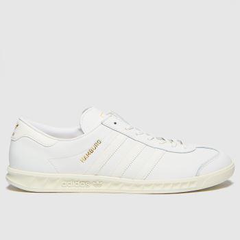 adidas White Hamburg Mens Trainers