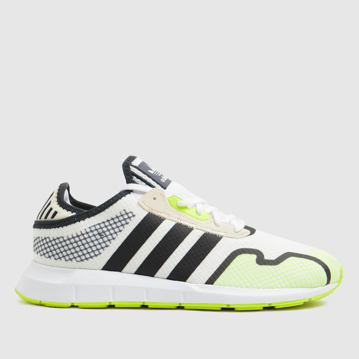 Adidas White & Yellow Swift Run X Trainers