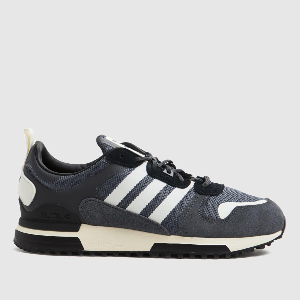 Adidas Grey & Black Adi Zx 700 Hd Trainers
