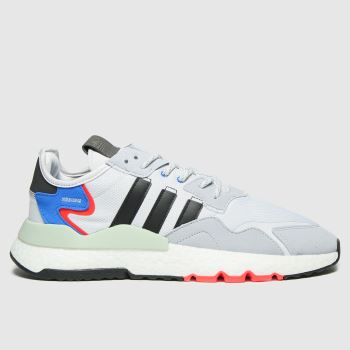 adidas Light Grey Nite Jogger Mens Trainers