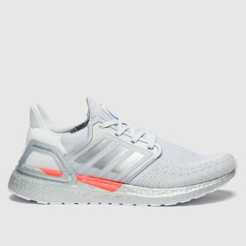 adidas White Ultraboost 20 Mens Trainers