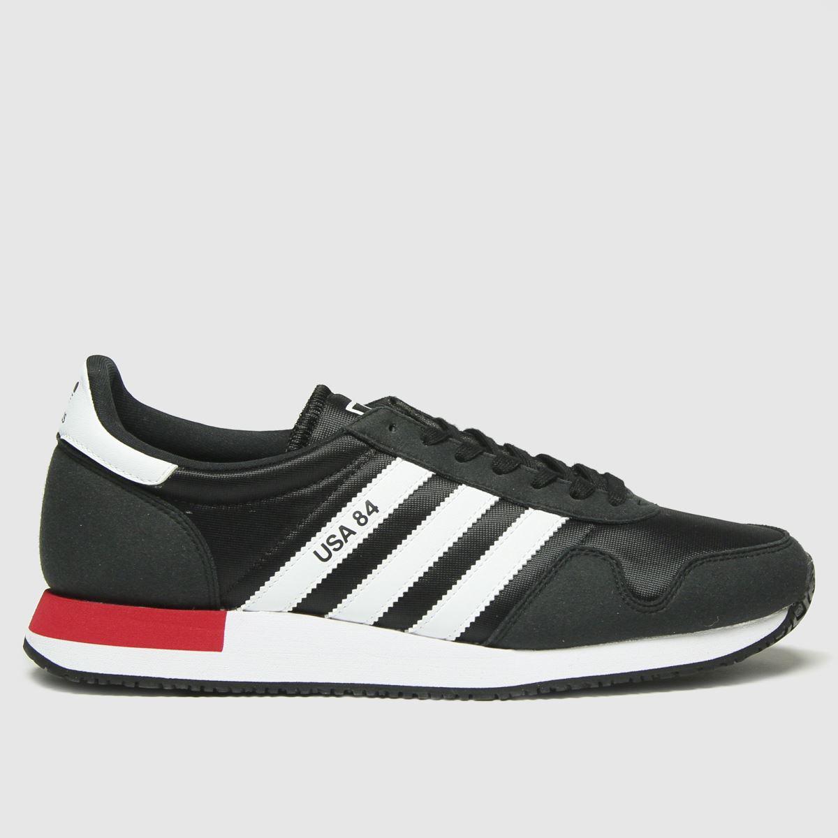 Adidas Black Adi Usa 84 Trainers