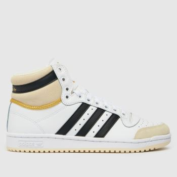 adidas White & Black Adi Top Ten Mens Trainers