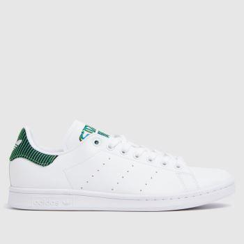 adidas White & Green Stan Smith Primegreen Mens Trainers