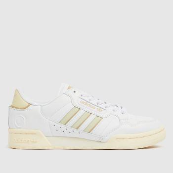 adidas White & Beige Continental 80 Stripe Mens Trainers