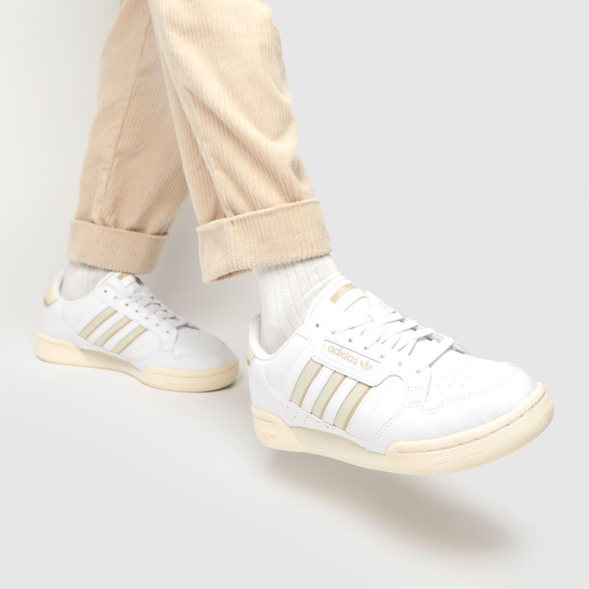 Herren adidas Weiß beige Continental 20 Stripe Sneaker