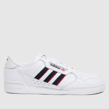 adidas White & Navy Continental 80 Stripe Mens Trainers