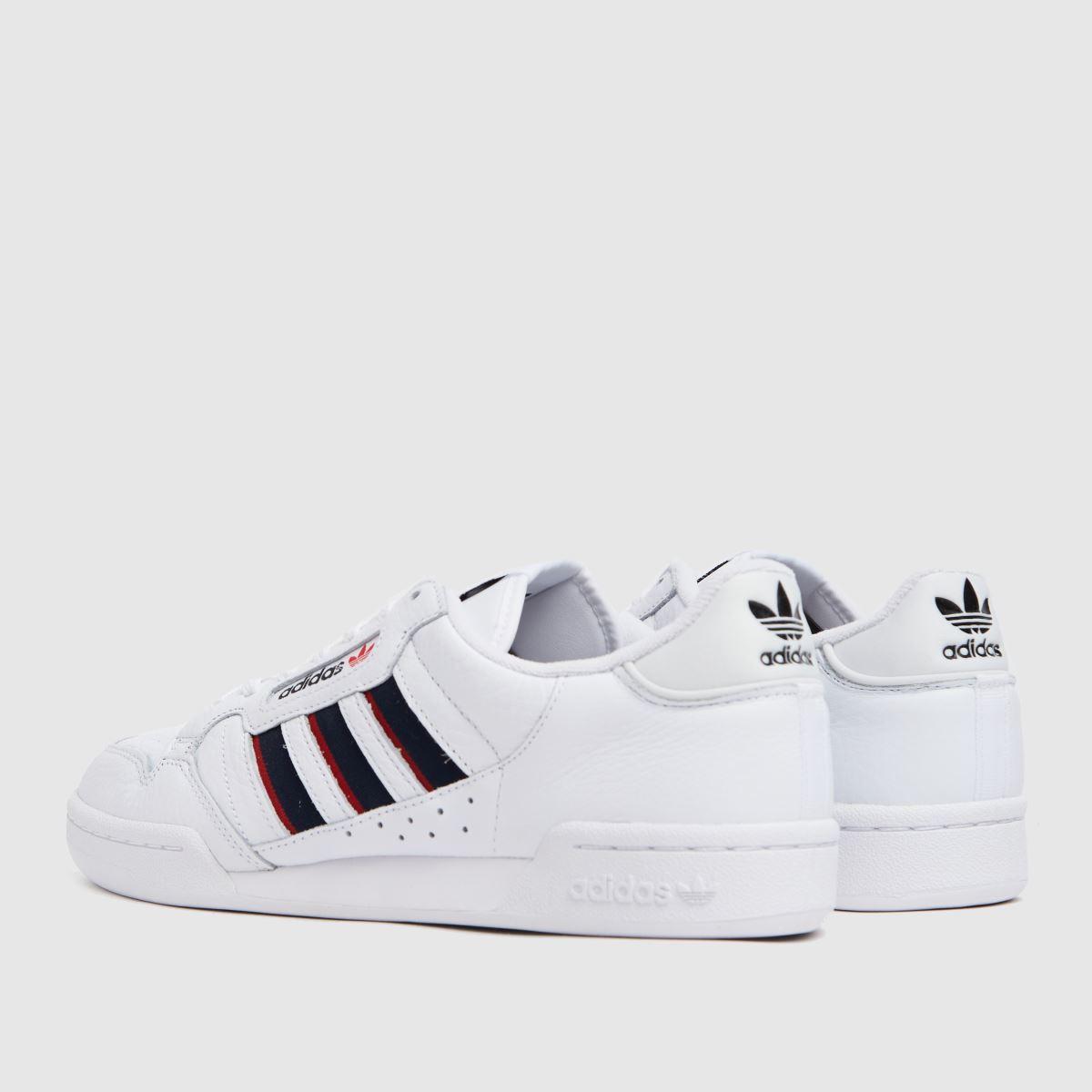 Herren adidas Weiß marineblau Continental 20 Stripe Sneaker
