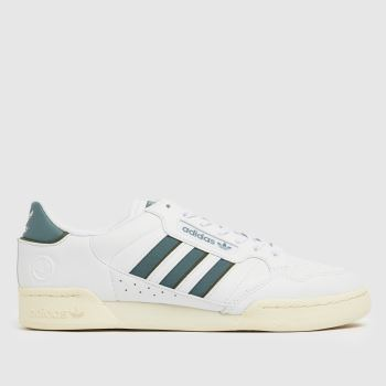 adidas White & Green Continental 80 Stripe Mens Trainers