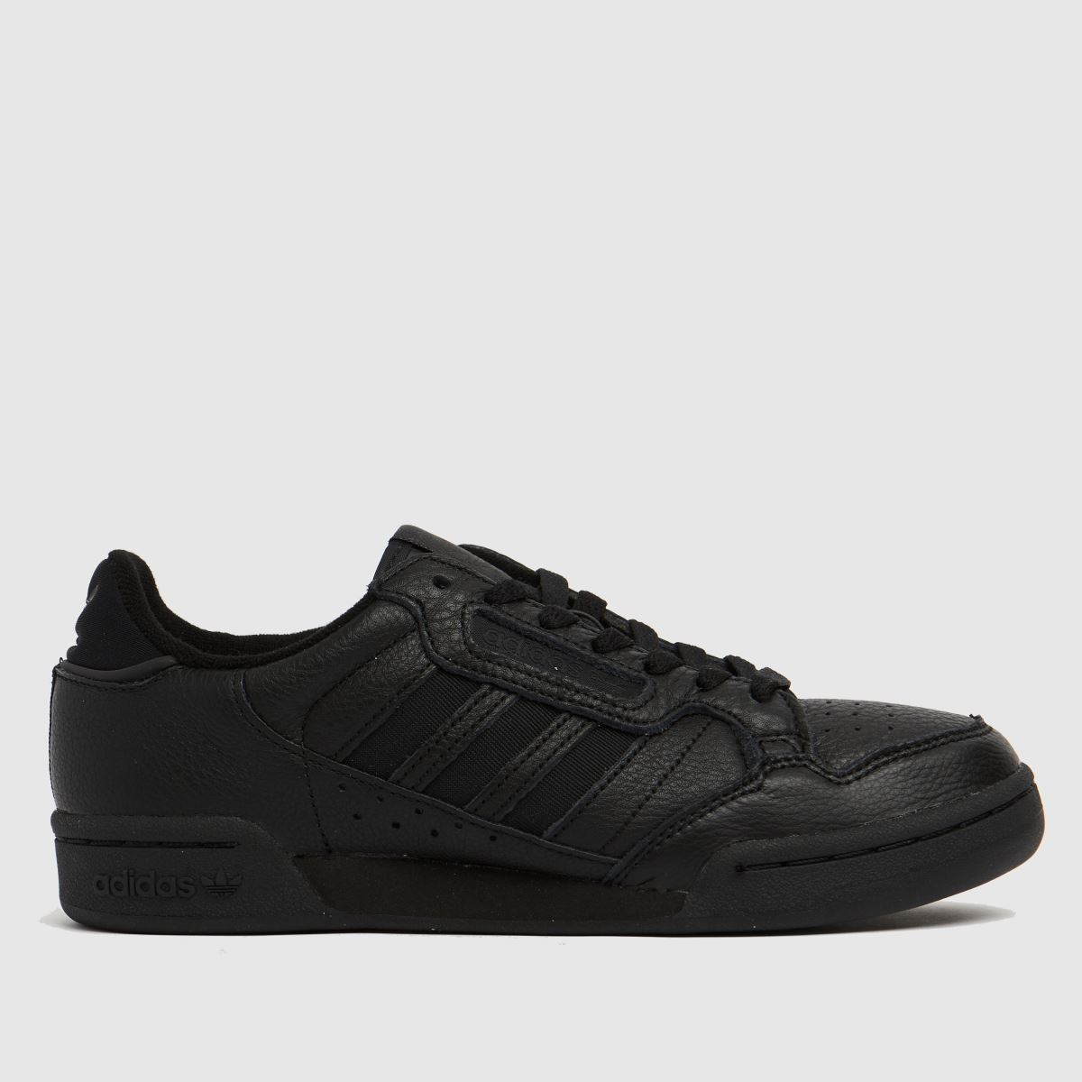 Adidas Black Continental 80 Stripe Trainers