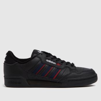 adidas Black & Red Continental 80 Stripe Mens Trainers