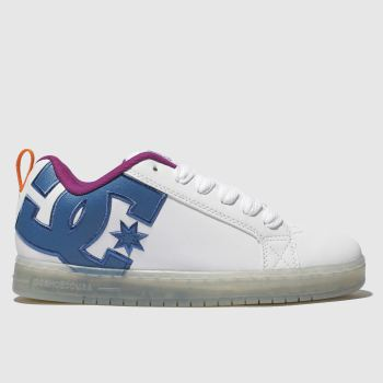 Dc Shoes White & Pink Court Graffik Se Trainers