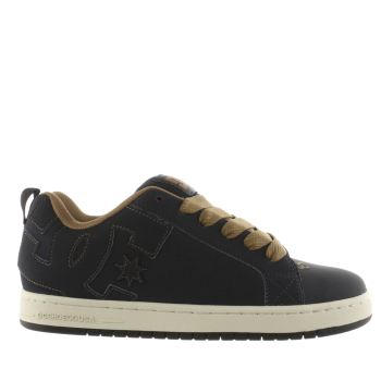 Dc Shoes Navy Court Graffik Mens Trainers