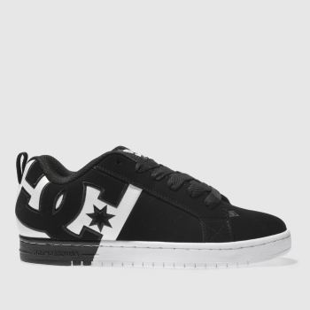 Dc Shoes Black & White DC COURT GRAFFIK SQ Trainers
