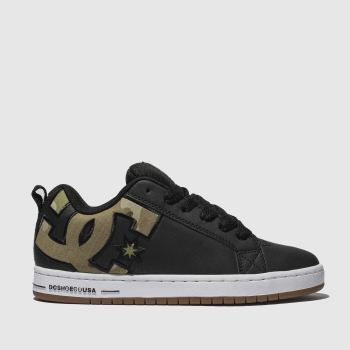 Dc Shoes Black & Gold Court Graffik Se Mens Trainers