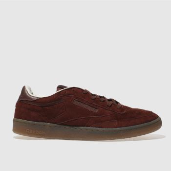 REEBOK BURGUNDY CLUB C 85 TG TRAINERS